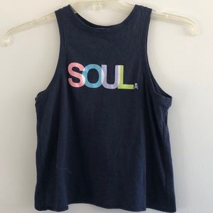 SoulCycle Cut out crop top tank